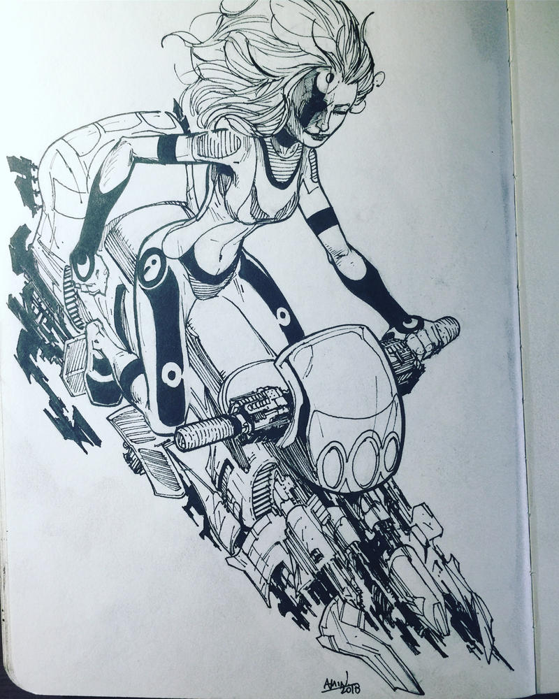 Cyber tech biker by aminamat