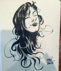 Dark hair woman. by aminamat