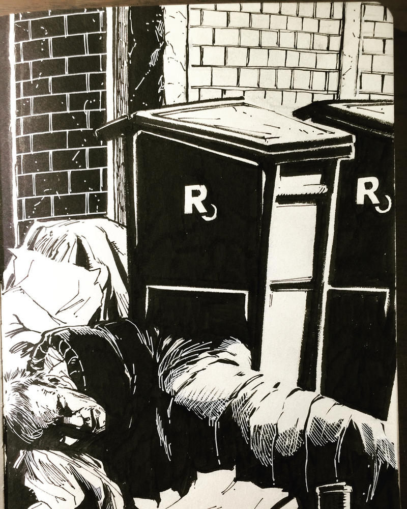 Homeless man sleeping. Minna St and Montgomery. by aminamat