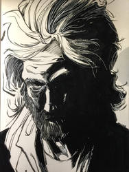 Profile Homeless Man. San Francisco CA by aminamat