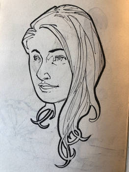Woman Ink Portrait
