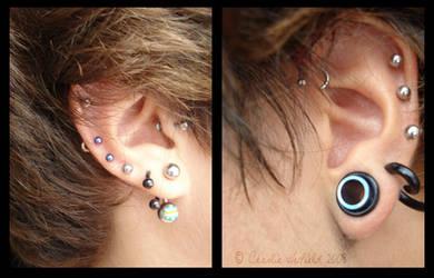 ear piercings by bamkorn