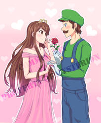 The Princess and the Plumber (Commission)