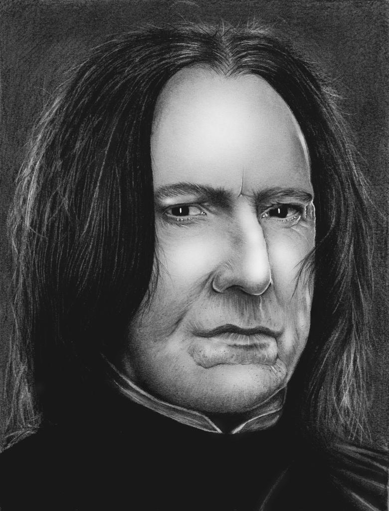 Alan Rickman as Professor Snape by HarryMichael