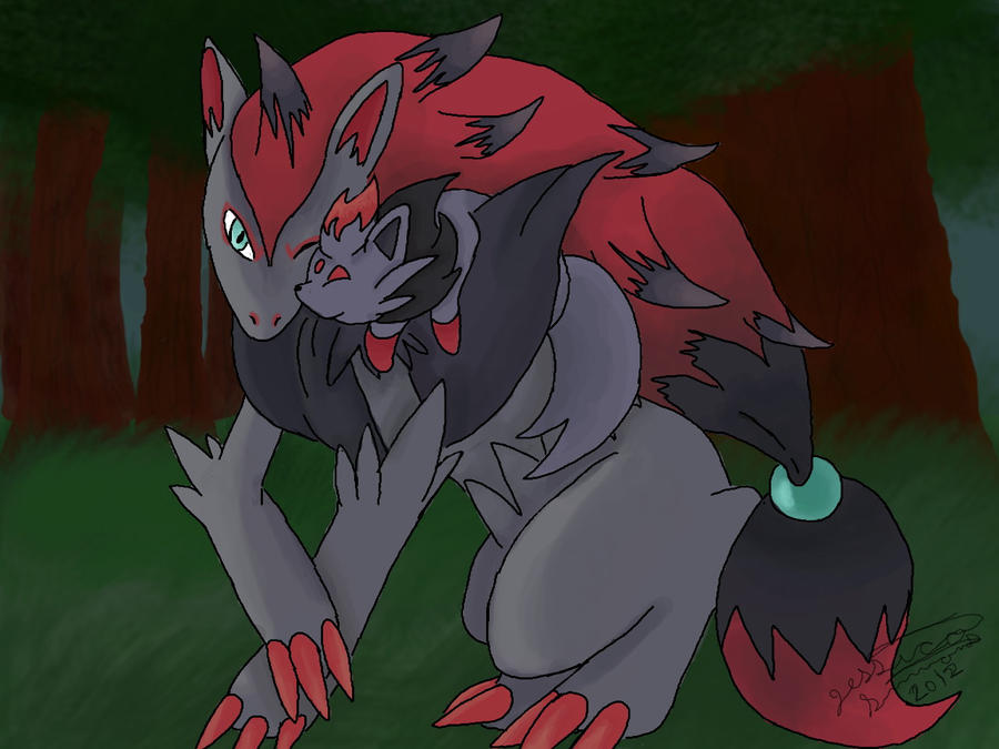 Zoroark and Zorua by Zoroark And Zorua