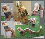 Lion Eastern Dragon Poseable Art Doll by DreamDragonCreations