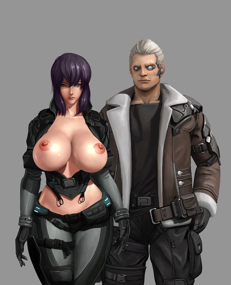 Motoko and Batou by MiaMaterial