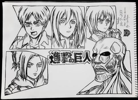 Shingeki No Kyojin By Wad0nnaart D6nqji0-fullview