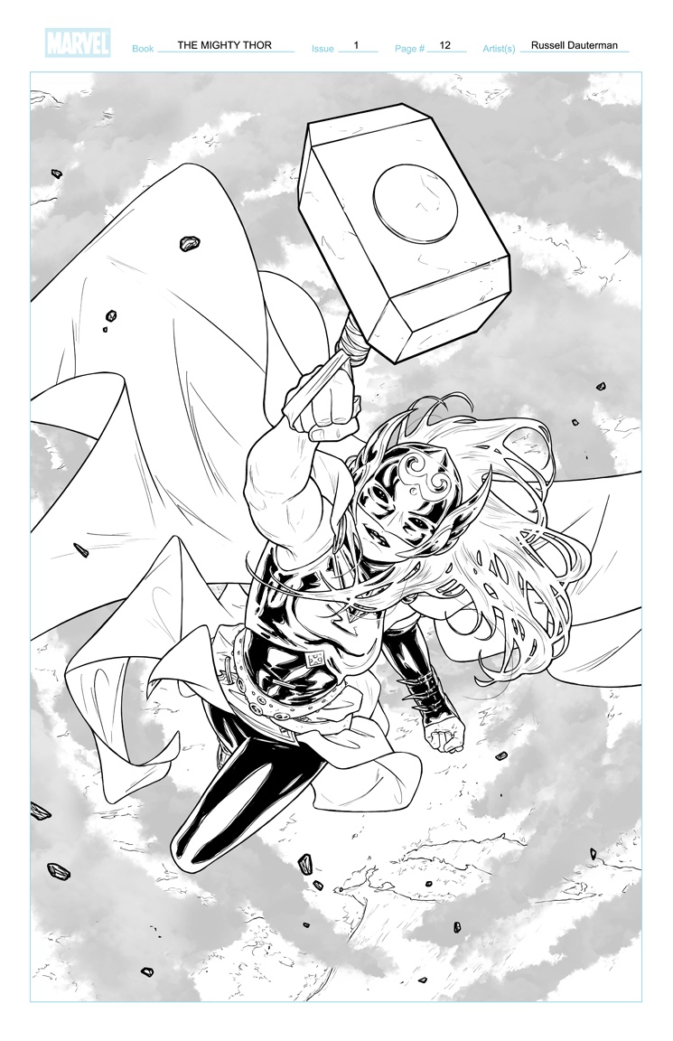 The Mighty Thor #1 p12 by RDauterman