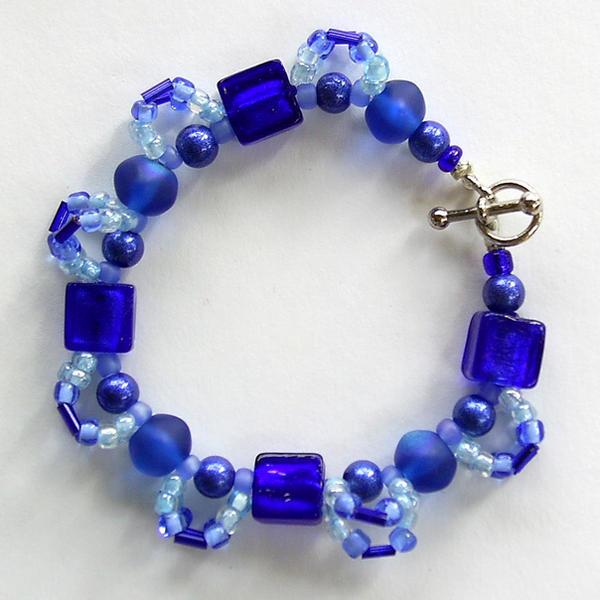 Loopy Blue Bracelet by johannachambers