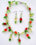 Flower Vine Necklace Set