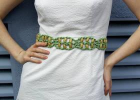 Green Macrame' Belt by johannachambers