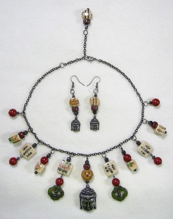 Buddha Necklace Set by johannachambers