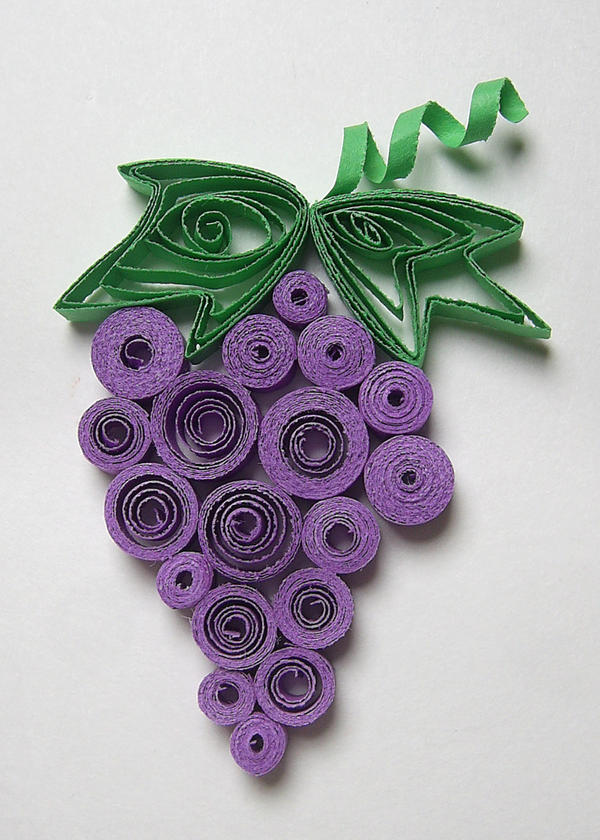 Quilled Grapes by johannachambers
