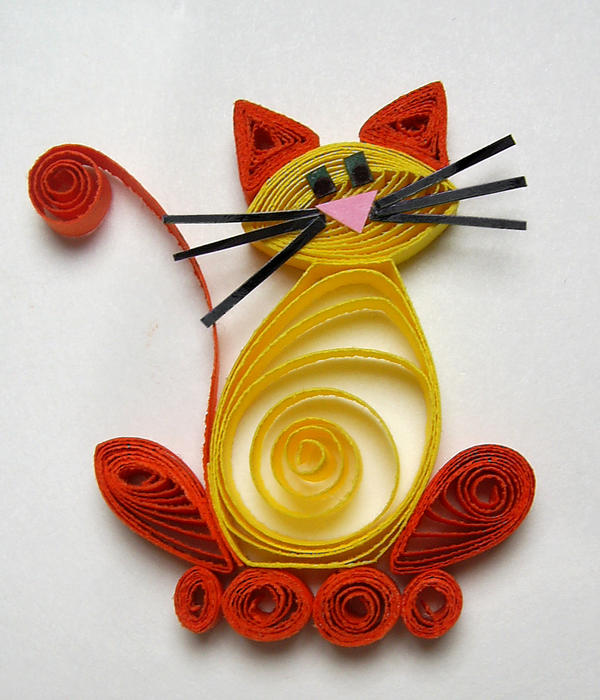 Quilled Cat by johannachambers
