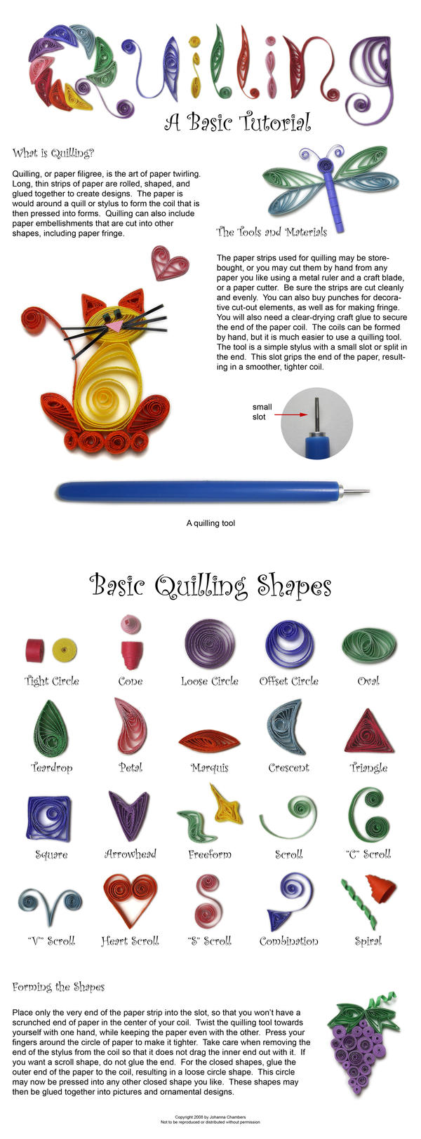 Basic Quilling Tutorial by johannachambers