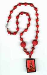 Cinnabar Buddha Necklace