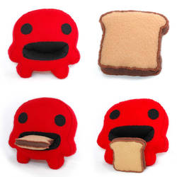 Toast Monster Plushie
