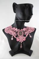 Pink Victorian Lace Choker