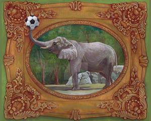 Elephants Love Soccer