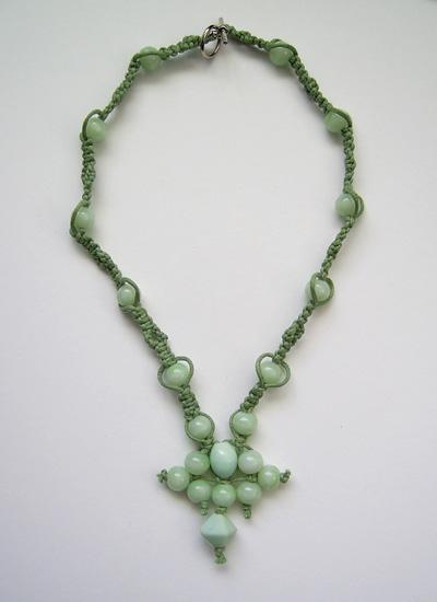 Jade Macrame Necklace by johannachambers