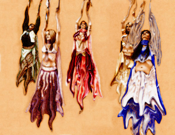 Belly Dancers 2 by johannachambers