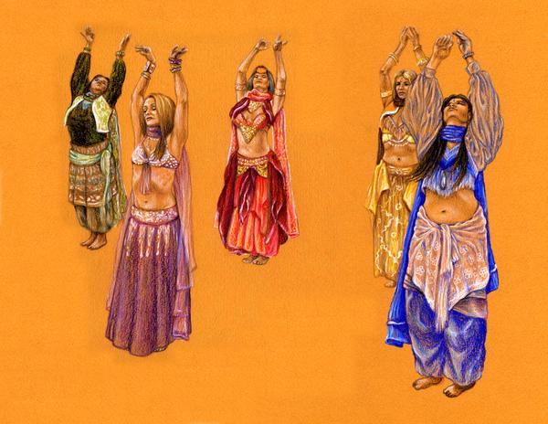 Belly Dancers 1 by johannachambers