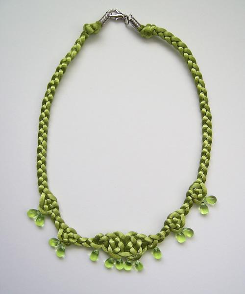 Lime Teardrop Necklace by johannachambers