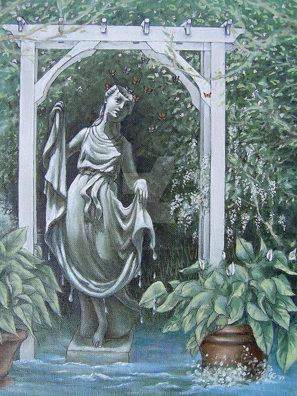 Diana Beneath the Trellis