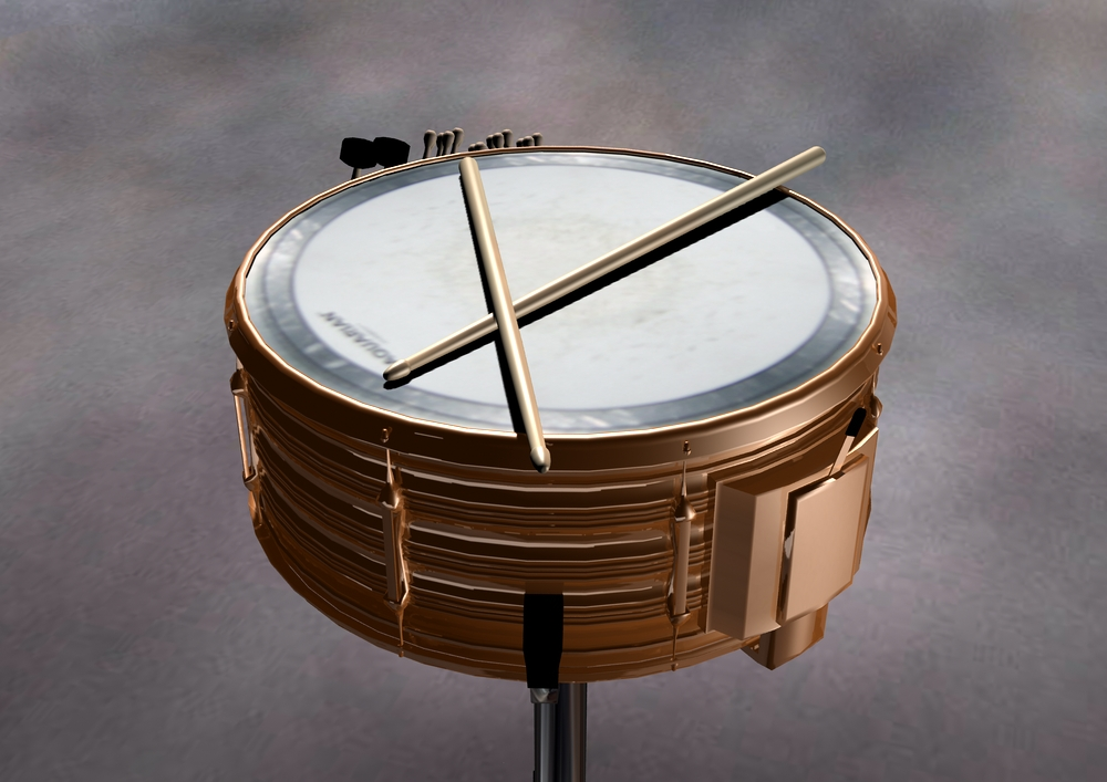 Snare Drum and Drumsticks by Diranda