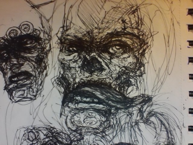 Zombie Face Line Drawing : Ink zombie face sketch by mortal demon on deviantart