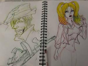 Harley and Joker doodle