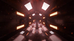 Space ship corridor (Full HD Render)