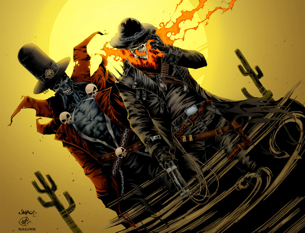 Gunslinger Spawn and Western Ghost Rider by Malkamok on ...