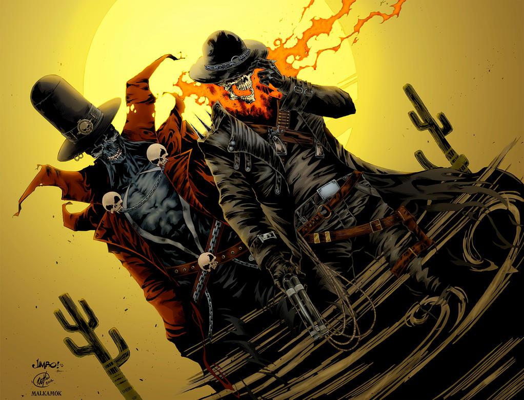 Gunslinger spawn and western ghost rider by malkamok on deviantart - Gunfighter wallpaper ...