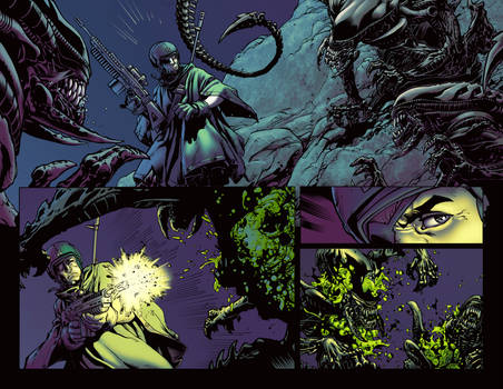 Aliens sample page - Colored