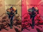 Judge Dredd  Under Siege #2 cover - DOUBLE COLOR!