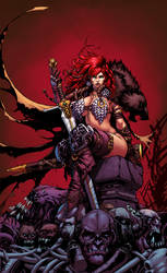 Red Sonja Reigns! COLOR by Malkamok