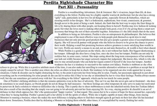 Perdita Nightshade Bio Pt 12 - Personality