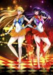 Sailor venus and mars- Sailor moon with love