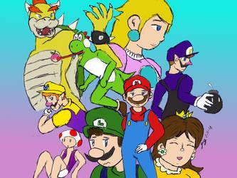 Super Mario Anime Poster by JaztheTrash