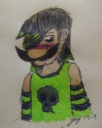 Emo Luigi by JaztheTrash