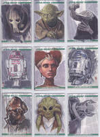 Clone Wars Sketchcards by Nekokaiju