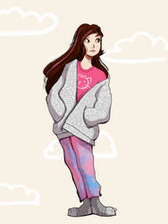 Original Characters- Comfy Rosie by Floralix
