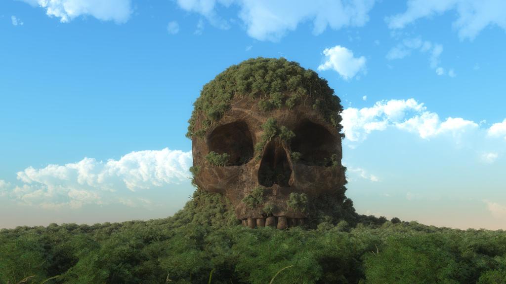 Skull Mountain by Davemanz