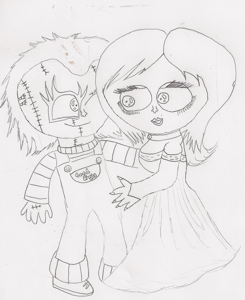 Chucky And Tiffany - Free Coloring Pages