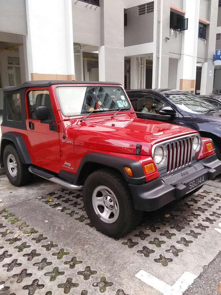 Red Jeep Wrangler Sport TJ by Amgnismo