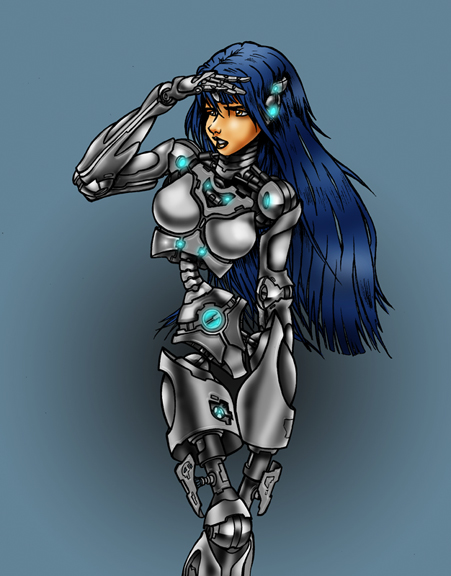 Cyber Girl 4 by Rambar1968