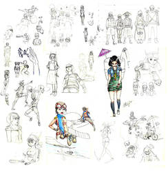 a lot of sketches
