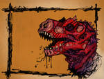 Zombie Dinosaur Coloured